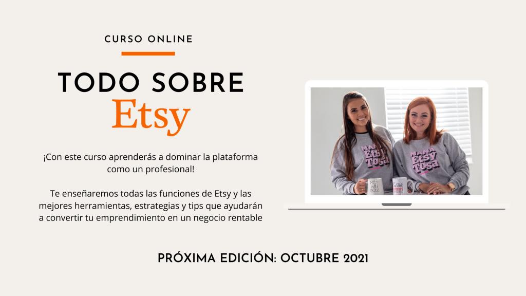 curso online para aprender a vender en Etsy en español